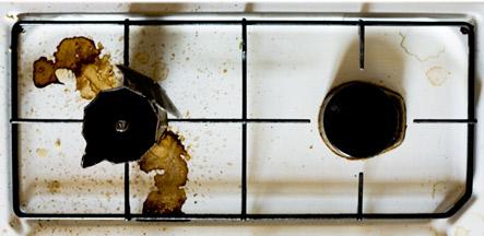 Kaffee Kanna Maschine Italienisch Verbrannt
