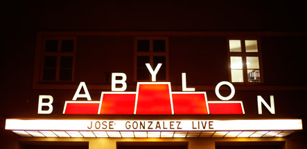 Babylon Berlin Mitte - Jose Gonzales Konzert